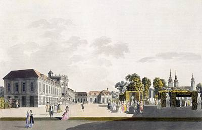 Garden Drawing - View Of The Palace And Gardens Owned by Laurenz Janscha