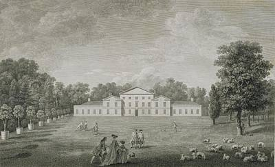 View Of The Palace At Kew Art Print by John Joshua Kirby