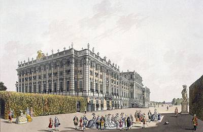 Garden Drawing - View Of The Palace Of Schoenbrunn by Laurenz Janscha