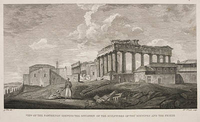 View Of The Parthenion Art Print by British Library