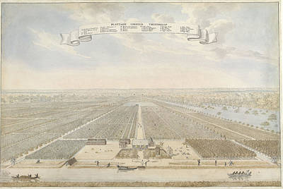 Plantation Drawing - View Of The Plantation Cornelis Friendship In Suriname by Quint Lox