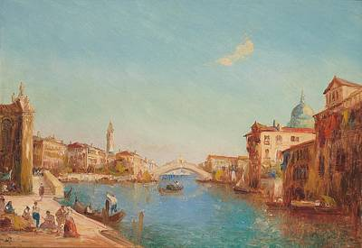 Adolf Painting - View Of The Pont Avignon And The Palais Des Pope by Celestial Images