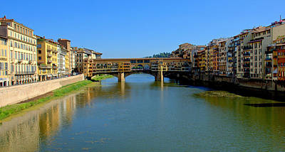 Photograph - View Of The River In Florence by Caroline Stella