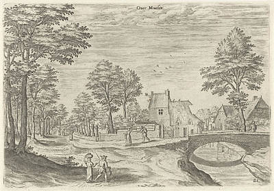 Belgium Drawing - View Of The Road To Brussels, Belgium, Print Maker Hans by Hans Collaert I And Hans Bol And Jacob Grimmer