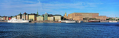 Gamla Stan Photograph - View Of The Royal Palace And Gamla by Panoramic Images