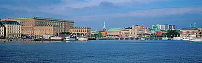 Gamla Stan Photograph - View Of The Royal Palace At Waterfront by Panoramic Images