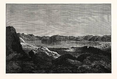 View Of The Salt Lake Of Tsomoriri Art Print by English School