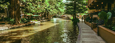 Riverwalk Photograph - View Of The San Antonio River Walk, San by Panoramic Images