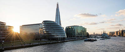 View Of The Shard And City Hall Art Print by Panoramic Images