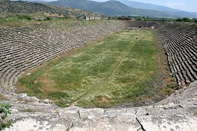 Aphrodisias Photograph - View Of The Stadium From The West by Tracey Harrington-Simpson