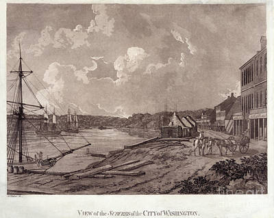Georgetown Drawing - View Of The Suburbs Of The City Of Washington - 1795 by Pablo Romero
