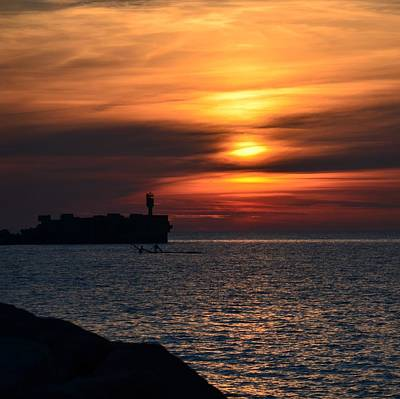 View Of The Sunset Art Print by Gynt