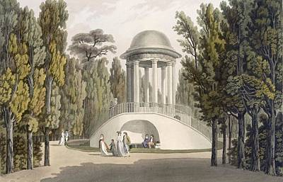 Temple Drawing - View Of The Temple Of Diana At Eisgrub by Laurenz Janscha