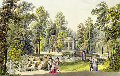 Swans... Painting - View Of The Temple Of Diana At Erlaw by Laurenz Janscha