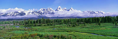 View Of The Teton Range And The Snake Art Print by Panoramic Images