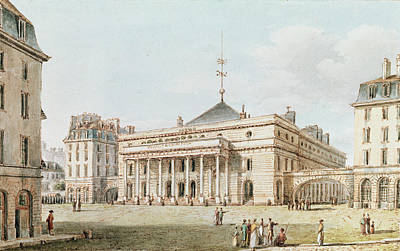 C19th Photograph - View Of The Theatre De Lodeon, Paris Pen & Ink And Wc On Paper by Victor Jean Nicolle
