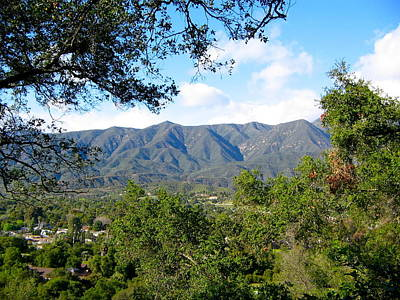 Photograph - View Of The Topa Topa Mountains by Denise Mazzocco
