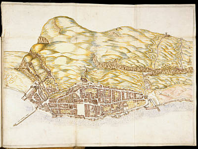 Luis Photograph - View Of The Town Of Gibraltar by British Library
