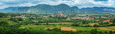 Del Rio Photograph - View Of The Valley And Town Of Vinales by Levin Rodriguez