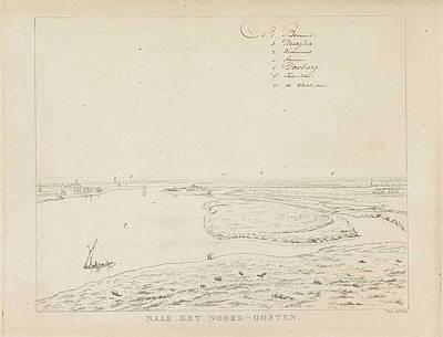 View Of The Waal Northeast Of Nijmegen, Derk Anthony Van De Art Print