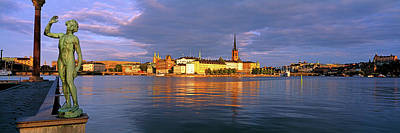 Gamla Stan Photograph - View Of The Waterfront Of Gamla Stan by Panoramic Images