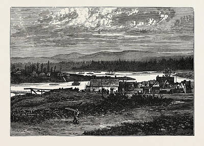 Vancouver Drawing - View Of The Western Suburbs Of Victoria by English School