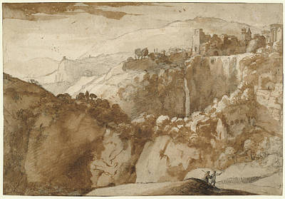 View Of Tivoli Recto,  View Of Tivoli Verso Claude Lorrain Art Print
