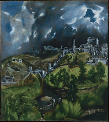 Christianity Painting - View Of Toledo by Celestial Images