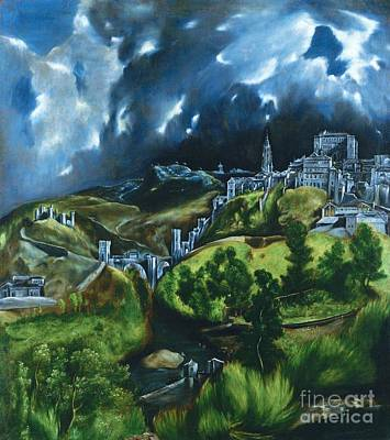 1596 Painting - View Of Toledo by Pg Reproductions