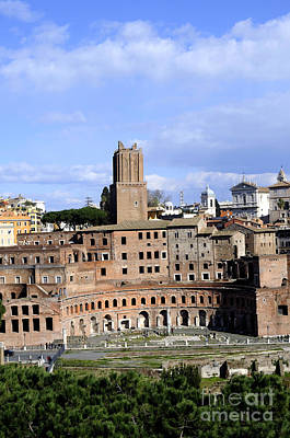 Photograph - View Of Trajan's Market by Brenda Kean