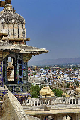 View Of Udaipur From City Palace Art Print by Adam Jones