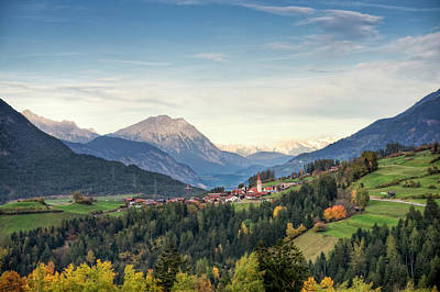 Photograph - View Of Unterleins In Tyrol by Thomas Winz