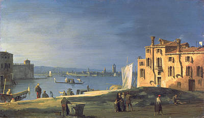 Italian Landscapes Painting - View Of Venice by Canaletto