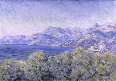 View Of Ventimiglia, 1884 Art Print by Claude Monet