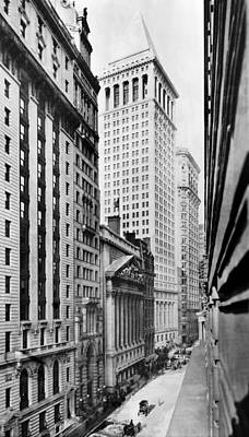 Banker Photograph - View Of Wall Street by Irving Underhill