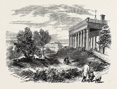 Vern Drawing - View Of Washingtons House, Mount Vernon by American School