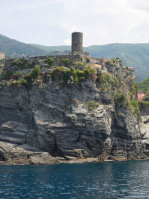 View Of Watchtower At Vernazza, La Art Print by Panoramic Images