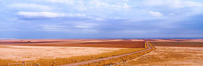 Carter Photograph - View Of Wheat Fields, Carter, Chouteau by Panoramic Images