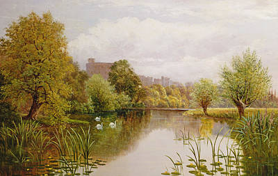 Nature Scene Painting - View Of Windsor From The Thames by John Atkinson