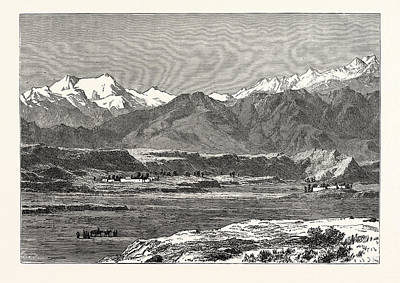 Outlook Drawing - View Of Yangi Hissar by English School