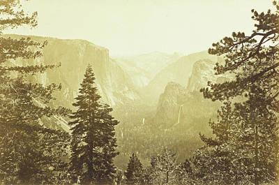 Yosemite Drawing - View Of Yosemite Valley, California Us, Possibly Carleton by Artokoloro