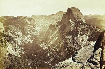 Yosemite Drawing - View Of Yosemite Valley In California by Artokoloro