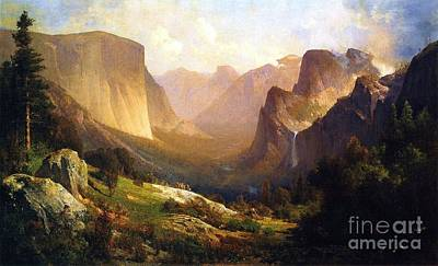 Yosemite Painting - View Of Yosemite Valley by Pg Reproductions