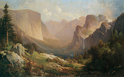 View Of Yosemite Valley Art Print by Thomas Hill