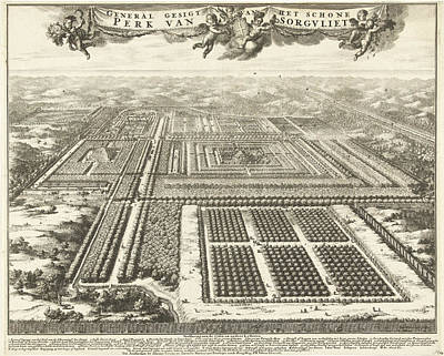 View Of Zorgvliet Park In The Hague, The Netherlands Art Print by Johannes Jacobsz Van Den Aveele And Johannes Covens And Cornelis Mortier