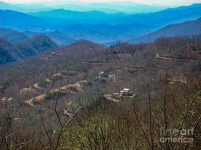 View On Blue Ridge Parkway Art Print by Randi Shenkman