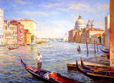 View On Della Salute Art Print