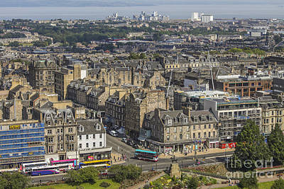 Photograph - View On Edinburgh With Princess Street by Patricia Hofmeester