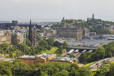 Photograph - View On Edinburgh's Waverly Railway Station by Patricia Hofmeester