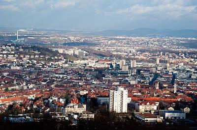 View On Stuttgart From Birkenkopf Art Print